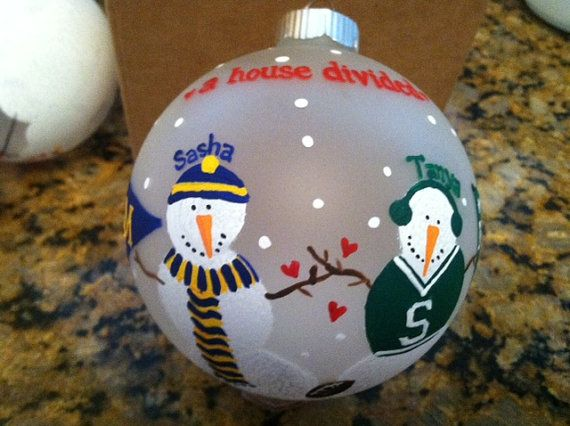 A House Divided Rivalry Ornament OSU/Michigan, UCLA, Texas, any schools!