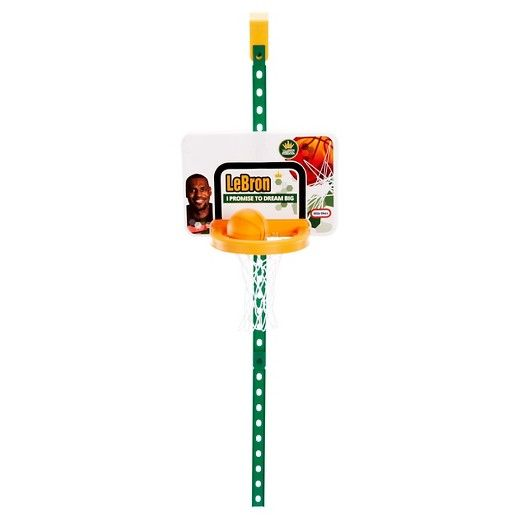 At 3 years old, LeBron James got his start playing basketball and learning to dunk on a Little Tikes basketball hoop! Now your little all-star can, too!<br><br>The Little Tikes® LeBron James Family Foundation Dream Big™ Attach 'n Play™ Basketball Set is the perfect indoor game for little athletes. This basketball set helps build hand eye coordination and the over-the door foldable rim provides easy storage for convenience and fun.<br><br&gt...