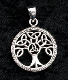 Pendentif  Argent 925 Arbre de Vie Celte Irlandais