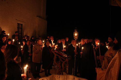 The local community participates during the Easter Services.