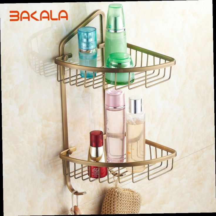 51.07$  Watch here - http://alic6s.worldwells.pw/go.php?t=1889650428 - Free Shipping BAKALA  Fashionable Brass Double Layer Bathroom Accessories Rack  BR-6707 51.07$