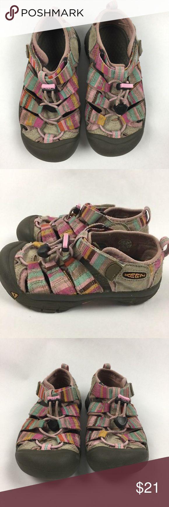 KEEN Sz 13 Girls Rainbow Striped Sandals KEEN Sz 13 Girls Pink Rainbow Colors Striped Walking Hiking Water Sandals Keen Shoes Sandals & Flip Flops