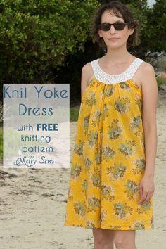 Robe d'été (voir patron robe taie d'oreiller) avec modèle de tricot libre - Coudre une robe de taie d'oreiller