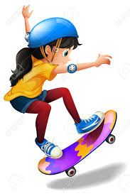 Image result for royalty free illustration skateboarder