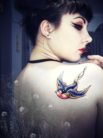 Sparrow Tattoo #3: Tattoo Ideas, Old Schools, Birds Tattoo, Sparrow Tattoo, Phoenix Tattoo, Tattoo Design, Shoulder Tattoo, Swallows Tattoo, Sailors Style