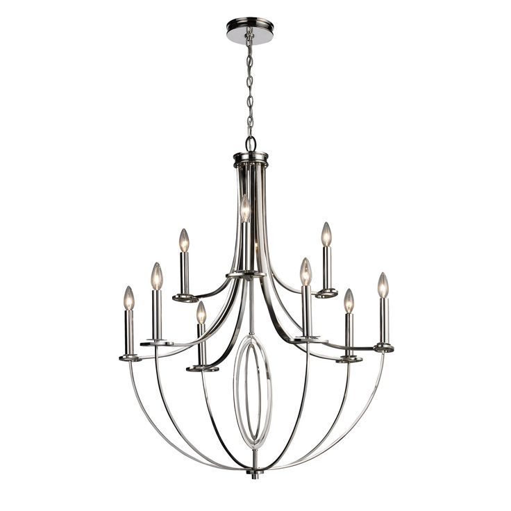 South Shore Decorating: Elk Lighting 10159/6+3 Dione Contemporary Candle Chandelier ELK-10159-6-3