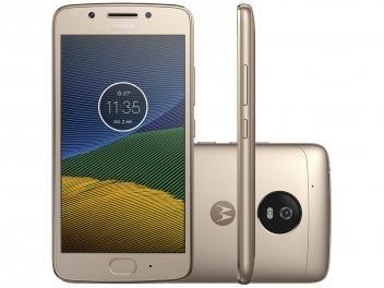 """Smartphone Motorola Moto G5 32GB Ouro Dual Chip 4G - Câm. 13MP + Selfie 5MP Tela 5"""" Octa Core  R$ 999,00 em até 10x de R$ 99,90 sem juros no cartão de crédito"""