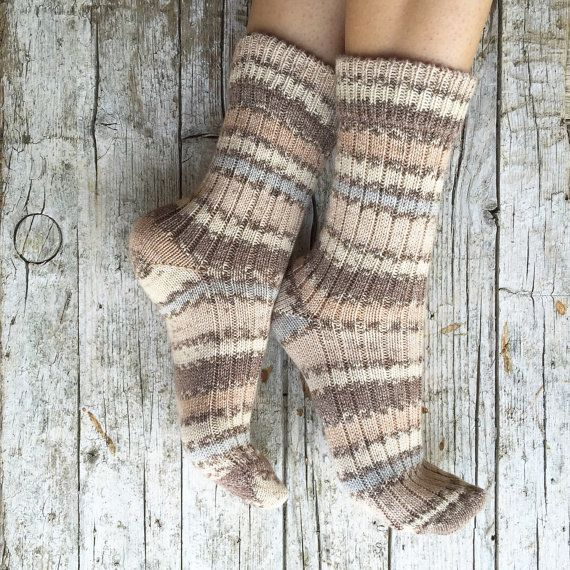 Wool and cotton socks unisex knitted socks by HandMadeInItaly