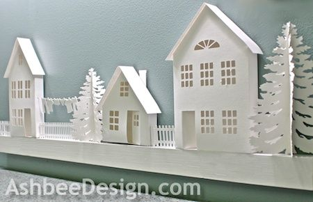 Ashbee Design Silhouette Projects: 3d Ledge Village for Silhouette