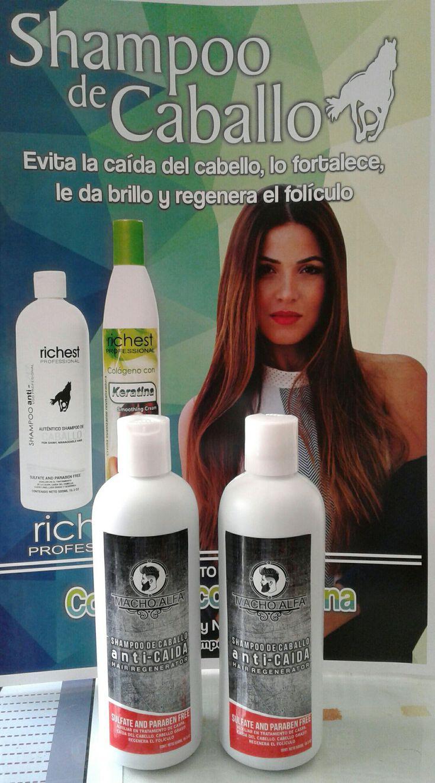 Shampoo Macho Alpha BENEFICIOS:  Libre de Sulfatos y Parabenos. Con un Ph equilibrado exclusivamente para el hombre.   La mezcla de ingredientes naturales; limpian el cuero cabelludo a profundidad eliminando las impurezas previniendo la caída del cabello y logrando el crecimiento de nuevo cabello. Ayuda a eliminar la caspa y seborrea.    INGREDIENTES:  Lairil, Éther, Dietanolamida, Diestrato 150, Cocobetaina, Espectroger, Fitonutrientes, Esencias de Chile, Sábila, Nopal, Jitomate, Creolina…