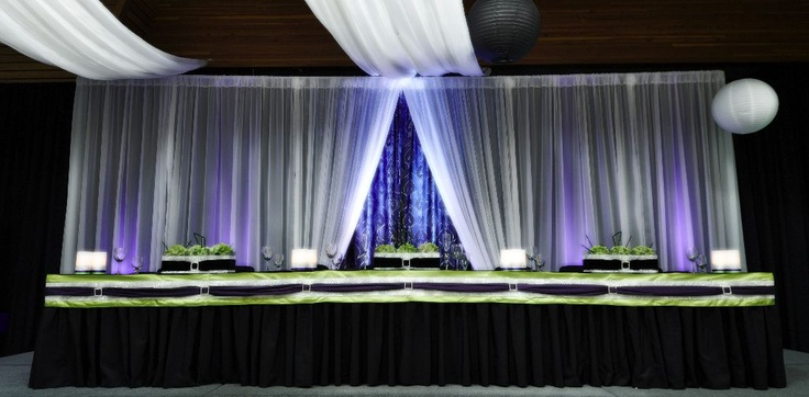 Dramatic 24' Backdrop and Head table.