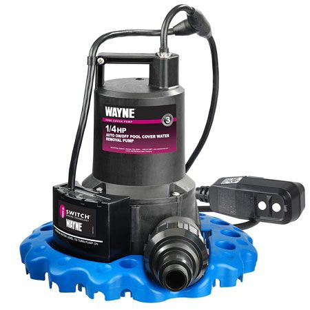 6. WAYNE WAPC250G Automatic ON/OFF Water Removal Pool Cover Pump With GFCI Protected Plug