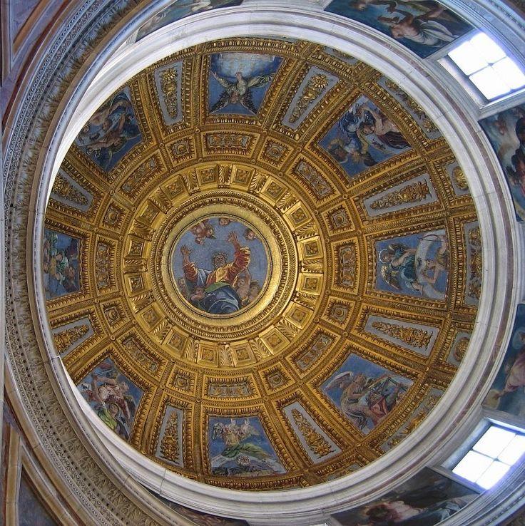 2. Mosaics after Raffaello Sanzio's drawings 1516 Dome of Chigi's Chapel Church of Santa Maria del Popolo Roma  #raffaello #raphael #essay #rome (inspired by J. Shearman 1980)