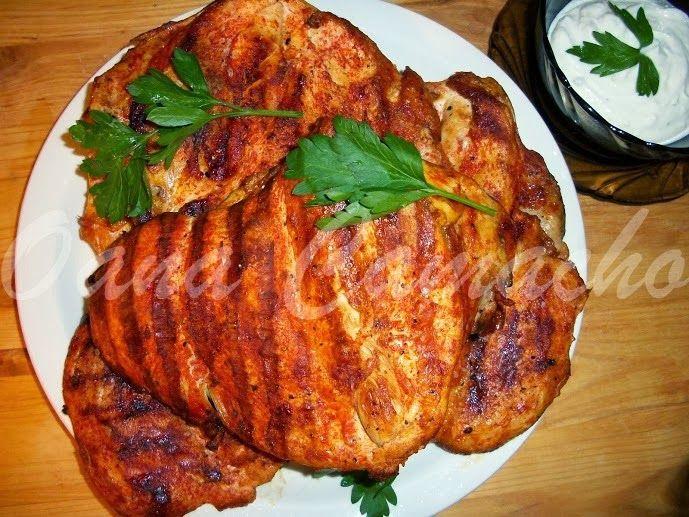 Cooking with love  !  : Pui picant la gratar ( Pollo adobado)