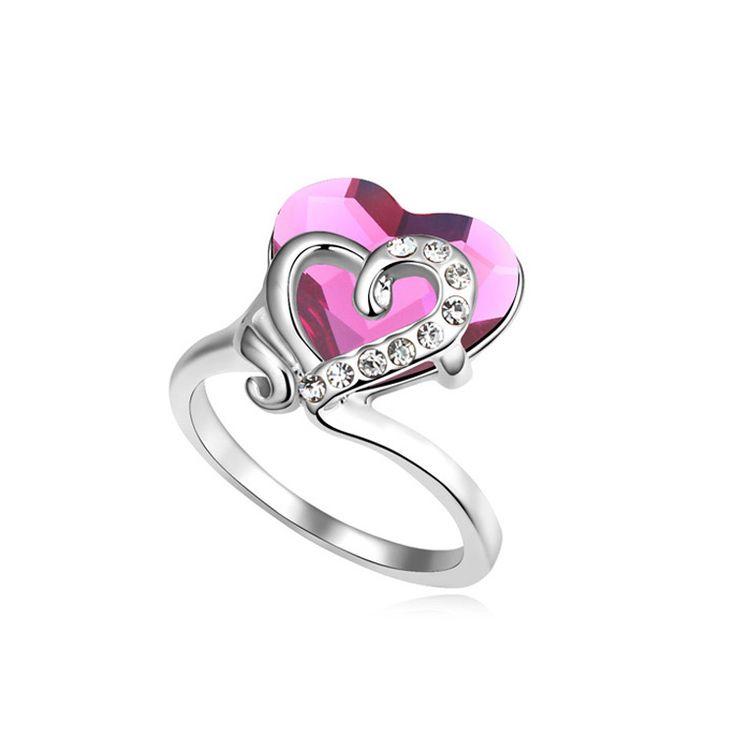 Цирконий алмаз девушка кольца опал кристалл кольцо обручальные кольца для мужчин и женщин 18 К золото обручальное кольцо перста мода ювелирные изделия