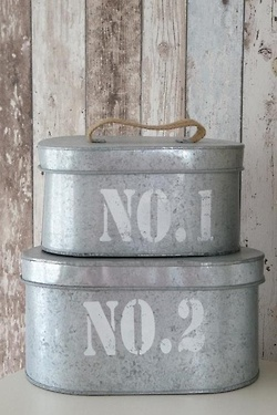 #galvanized metal containers