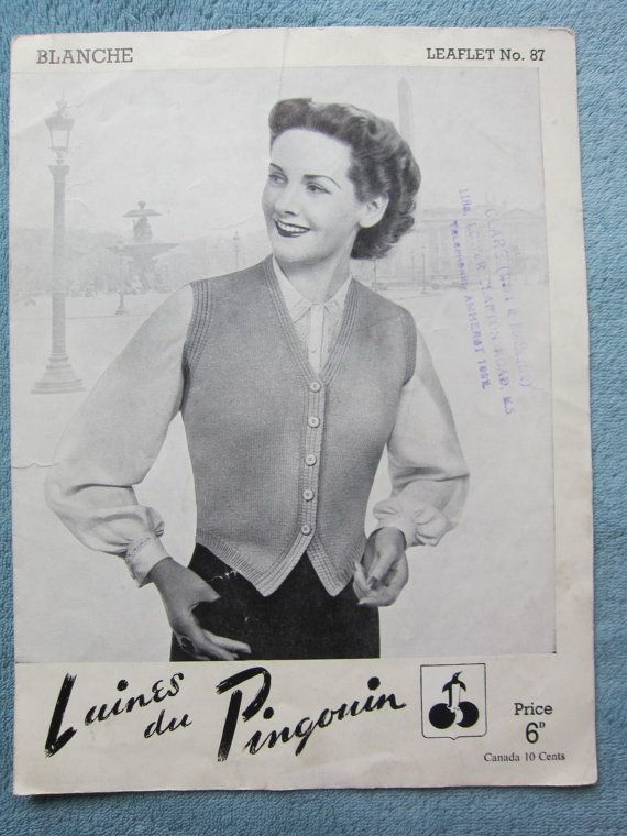 Vintage ladies knitting pattern Not a PDF by thevintagemagpie01