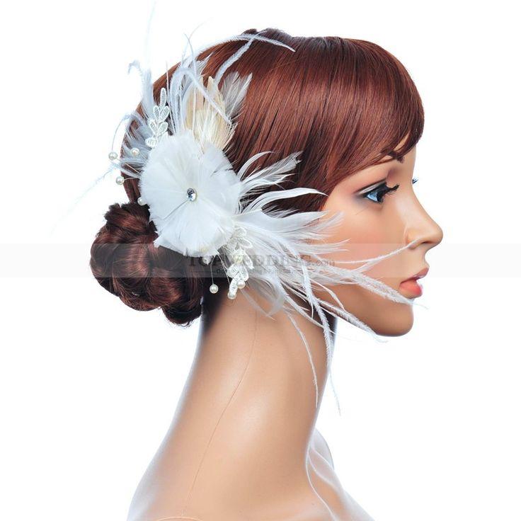 Fehér gyöngy haj fésű vel gyöngy részletek fs130174
