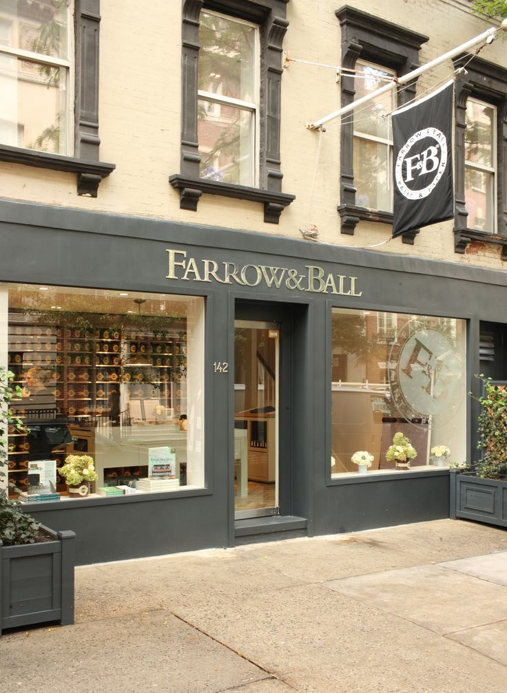 That colour please. Exterior of Farrow & Ball's showroom in New York's Upper East Side