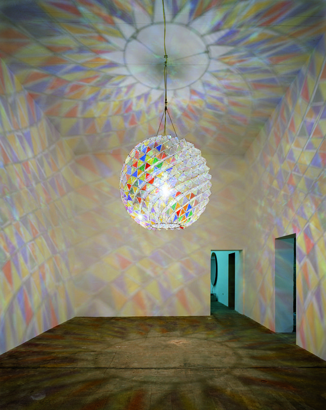 Olafur_Eliasson work in gallery that is a transformed a structure meant to protect 2,000 people from bomb raids during WW II