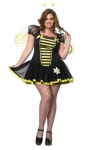 8903d4c5f4f Plus Size Honey Bee Costume in 2019 | Funny Costumes | Plus size ...