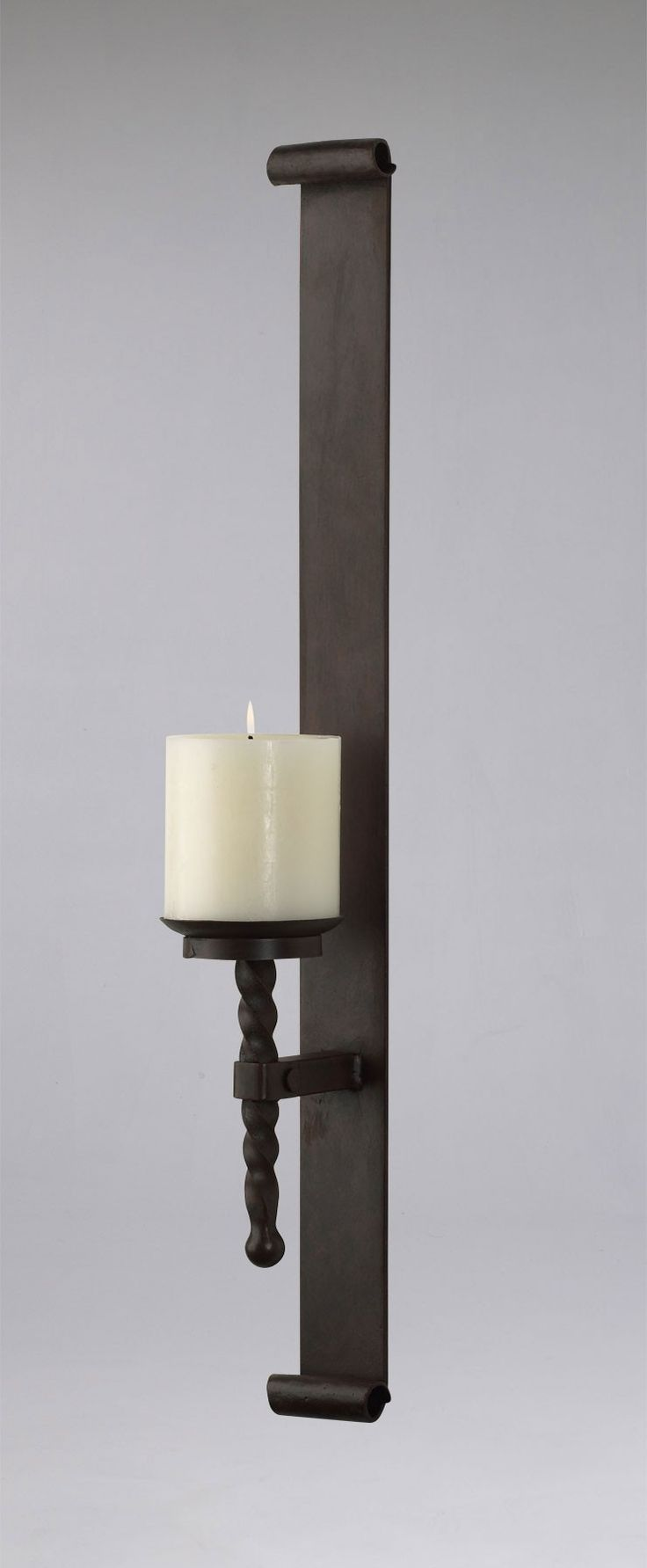 cyan design tuscan iron wall candle holder sconce large