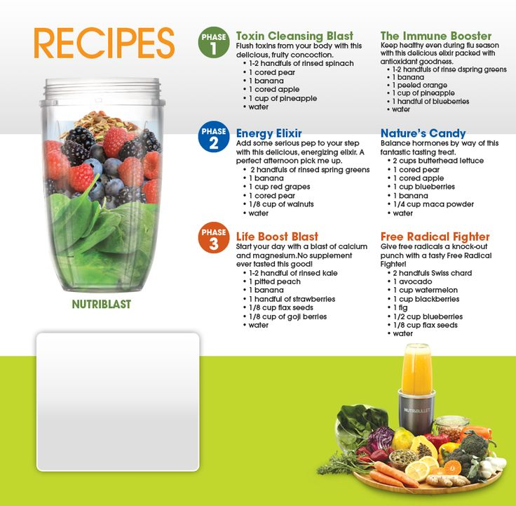NutriBullet Recipes- this thing is way better than a blender or juicer! I LOVE this thing and use it twice a day! A MUST buy to make eating healthier much easier, quicker, and yummy!!! (Bed Bath & Beyond ordered it for us and it came super quick!)