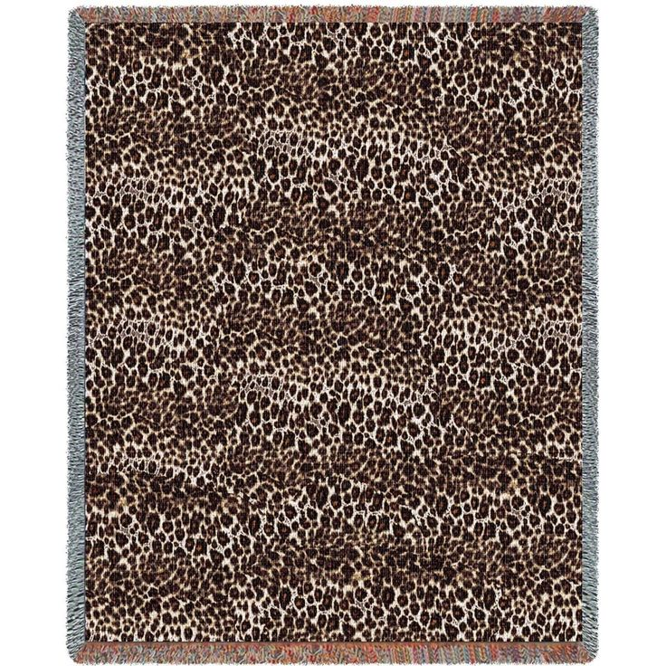 Cheetah Blanket | Woven Throw | Pure Country
