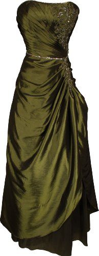 Olive Green Formal Dress for Juniors