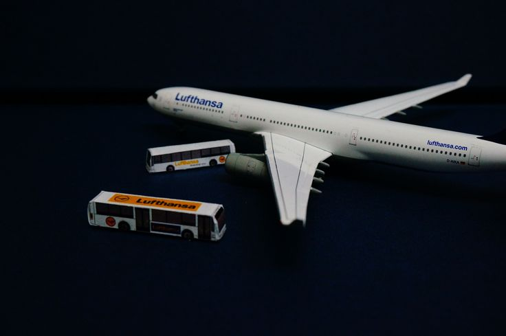 Lufthansa Airbus A330-343 with Home Made Buses