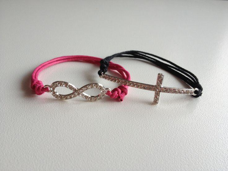 Infinity and cross bracelets #infinity#cross#bracelets#braccialetti#infinito#croce#jewel#jewelry#bijoux#fashionbijouxbyemi