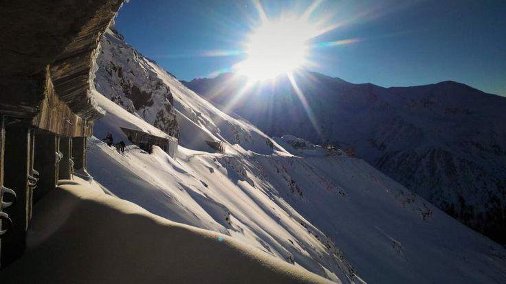 Snow-covered Transfagarasan