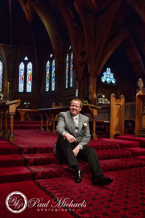 Groom waiting at the church. PaulMichaels Wellington wedding photography http://www.paulmichaels.co.nz/
