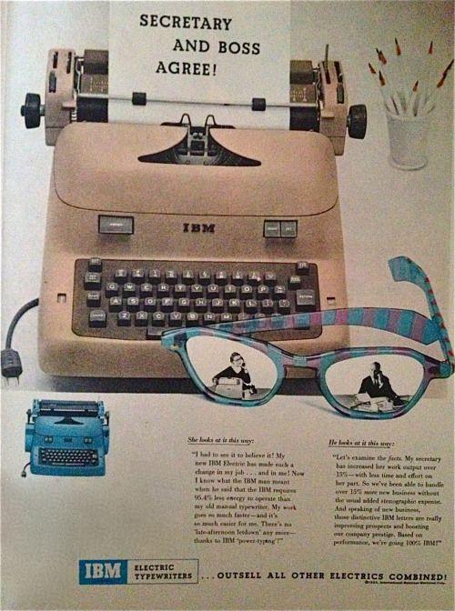 Máquina de escribir eléctrica IBM, 1955.