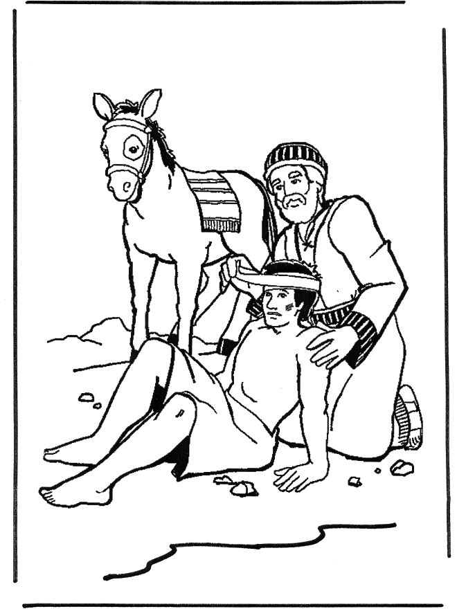 good samaritan coloring page - Good Samaritan Coloring Page
