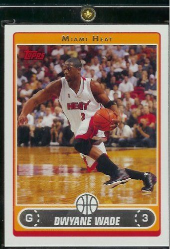 2006 07 Topps Dwayne Wade Miami Heat Basketball Card #100 - Mint Condition - Shipped In Protective ScrewDown Display Case!  http://allstarsportsfan.com/product/2006-07-topps-dwayne-wade-miami-heat-basketball-card-100-mint-condition-shipped-in-protective-screwdown-display-case/  2006 07 Topps Dwayne Wade Miami Heat Basketball Card #100 – Mint Condition – Shipped In Protective ScrewDown Display Case!