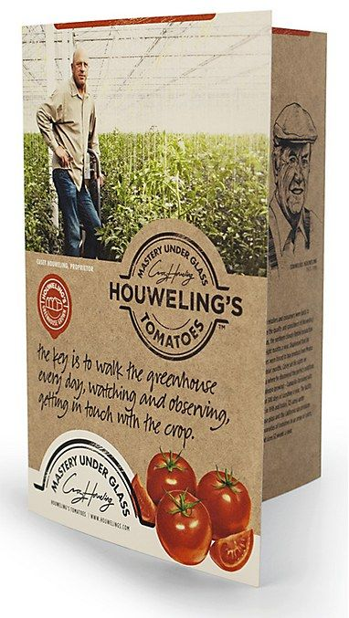 Some tasty creativity to sink your teeth into. [Packaging]Houwel Tomatoes, Houweling Tomatoes, Earthy Brochures, Design Packaging, Creative Packaging, Tomatoes Brochures, Inspiration Design, Brochures Inspiration, Brochures Design