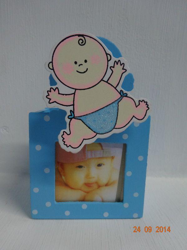 Porta lapices con fotografía, para recordatorios de Baby Shower. #DecoracionesBabyShowerPereira #BabyShowerNinoMedellin