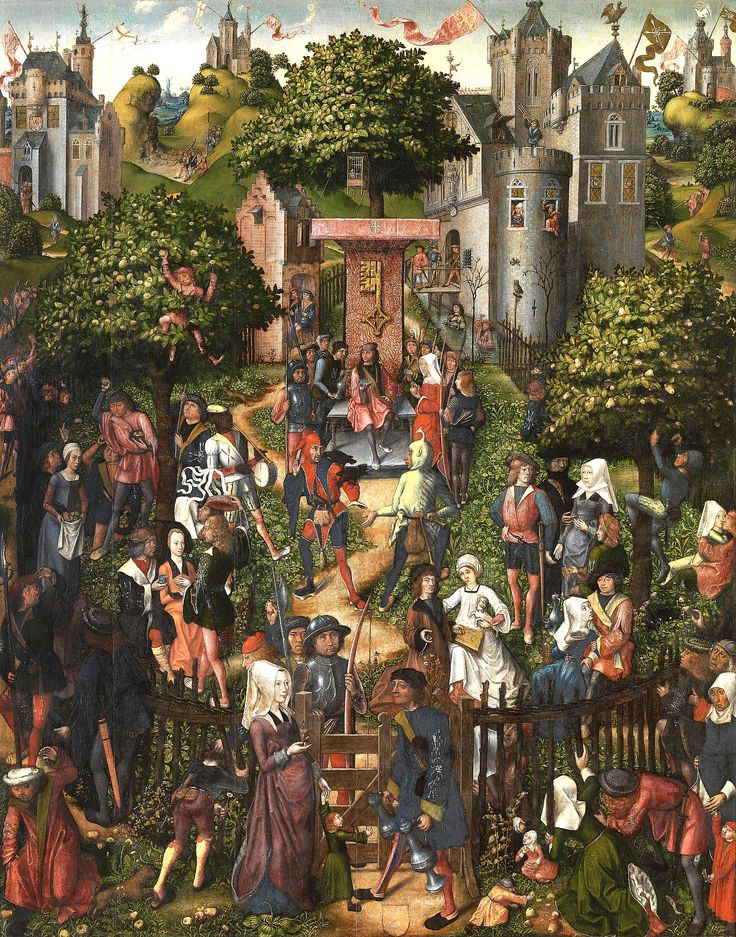 ARCHERY FESTIVAL AT THE BURGUNDIAN COURT 15TH CENTURY