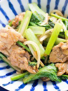 ごはんが止まらない!豚肉と小松菜の中華炒め