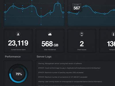 Dribbble - Server Stats App by Charles Williams #UI