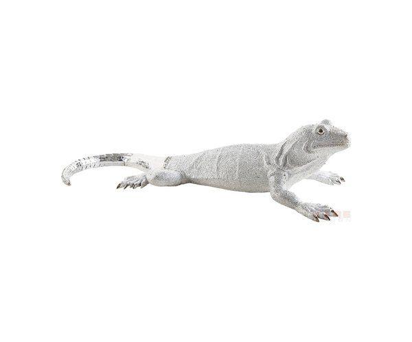 Lizard Deluxe Figurka Dekoracyjna Srebrna - Deco Figurine Lizard Silver Deluxe