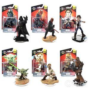 New Star Wars Disney Infinity 3.0 Figures Darth Vader Han Solo Yoda Official   eBay