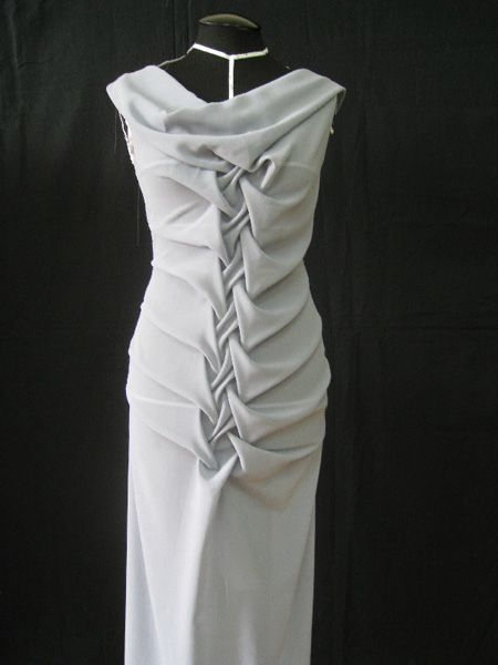 Fabric Manipulation - smocked dress design; draping; smocking; creative pattern cutting; sewing inspiration