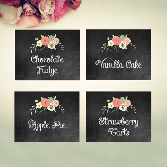 Editable Food Labels INSTANT DOWNLOAD // by PaperBearPrintable