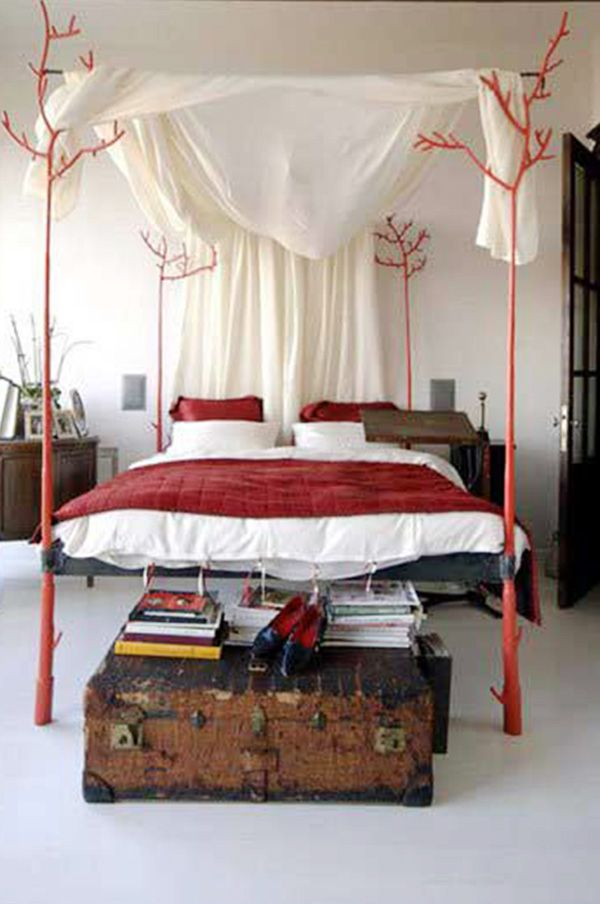 red wooden bed design - Wooden Bedroom Design