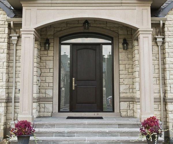 Черные двери с покрытием из стекловолокна