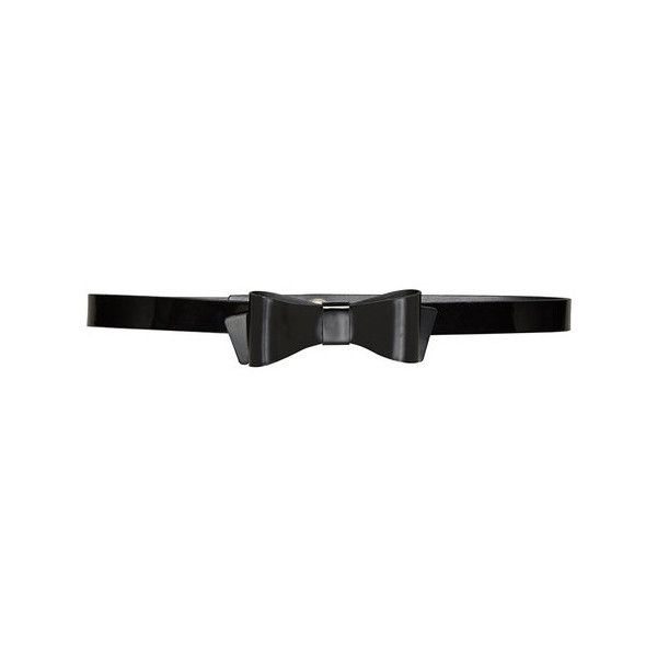 Alice + Olivia New Bow Patent Leather Belt ($80) ❤ liked on Polyvore featuring accessories, belts, black, bow belt, black bow belt, black belt and alice + olivia