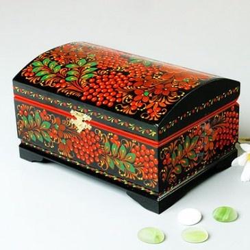 Khokhloma Jewelry Box    Item # KH01007A01    $119.99