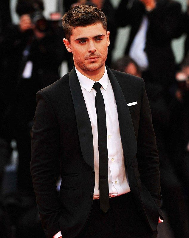 Zac Efron Black Suit